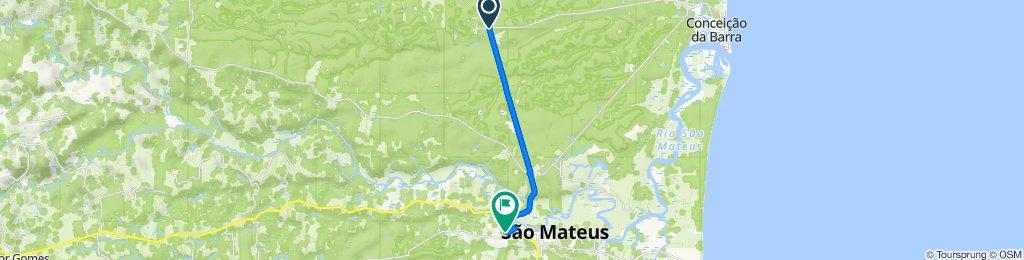 De ES-421 20 a Rua Mato Grosso 87