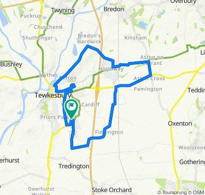 18 Hawkmoth Close, Tewkesbury to 17 Hawkmoth Close, Tewkesbury