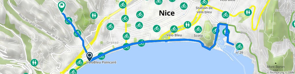 De Promenade des Anglais, Nice à 148–154 Boulevard de la Madeleine, Nice