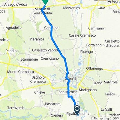 Da Via Stradoncello 1/A, Ripalta Guerina a Via Misano, Caravaggio