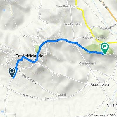 Da Via Carini 10, Castelfidardo a Via della Battaglia 35, Castelfidardo