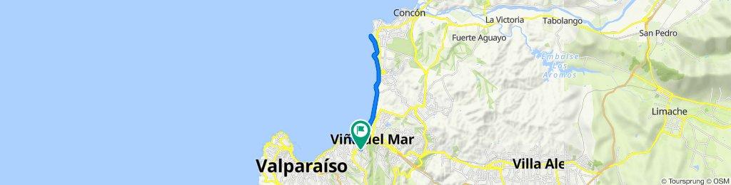 De San Pablo de La Cruz 315, Viña del Mar a Hermanos Clark 122, Viña del Mar