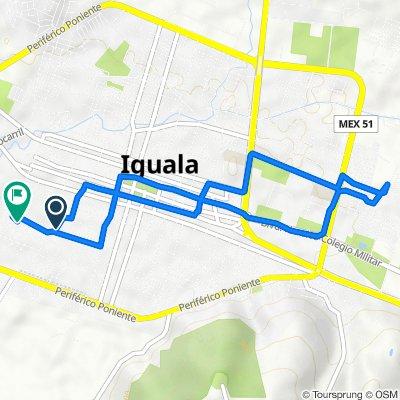 De Calle Pineda 7, Iguala de la Independencia a Calle de Arteaga 126, Iguala de la Independencia
