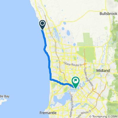 Burns Beach home ↔ Mineral House [coastal route]