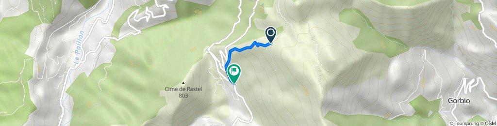 De Unnamed Road, Peille à Chemin Départemental Chemin Départemental 53 606, Peille