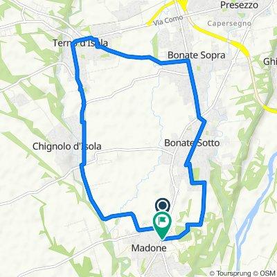 Da Via Dogana Vecchia 152, Madone a Via Giuseppe Verdi 2a–2b, Madone