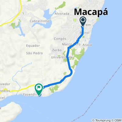 De Avenida Felipe Camarão, 1084, Macapá a Avenida Manoel C Melo, 78–534, Macapá