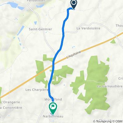 De L'Aubinerie, Saint-Germier à 5 Ruelle du Sabotier, Pamproux