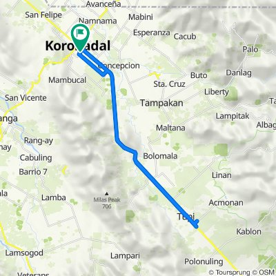 Santiago Odi Street, Koronadal City to Santiago Odi Street, Koronadal City