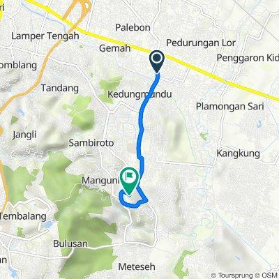 Jalan Fatmawati 73-47, Kecamatan Pedurungan to Mangunharjo, Kecamatan Tembalang