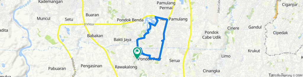 Jalan Taman Rajawali 1 12A, Kecamatan Bojongsari to Jalan Taman Rajawali 1 16, Kecamatan Bojongsari