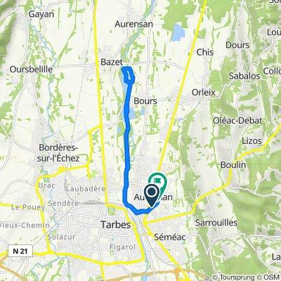 De 7 Avenue de la Chartreuse, Aureilhan à 3 Rue de la République, Aureilhan