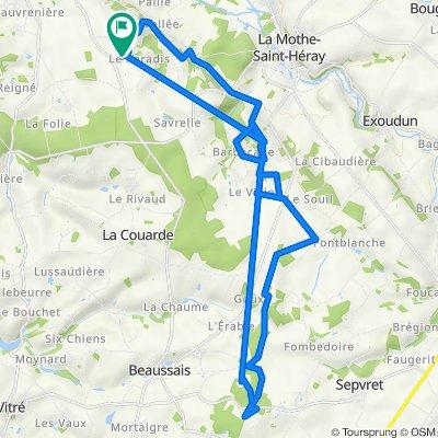 De 3 Chemin du Paradis, Souvigné à 3 Chemin du Noyer Jacquet, Souvigné