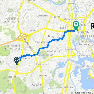 De Rua Maragogipe, 153–179, Recife a Avenida Sport Clube do Recife, 125, Recife