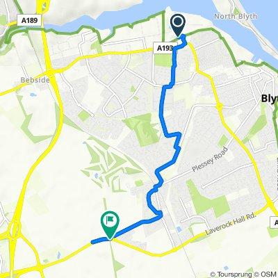 37 Bates Ave, Blyth to Laverock Hall Road, Blyth