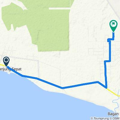 Route from Jalan Banting Sepang, Tanjung Sepat