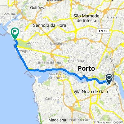 De Travessa do Regato 6, Oliveira do Douro a Praça da Cidade do Salvador 170, Porto