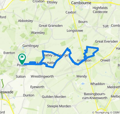 Route from Brookfields 14, Potton