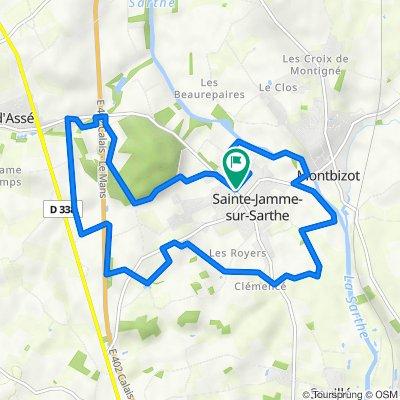 De Allée des Promenades 1, Sainte-Jamme-sur-Sarthe à Allée des Promenades 1, Sainte-Jamme-sur-Sarthe