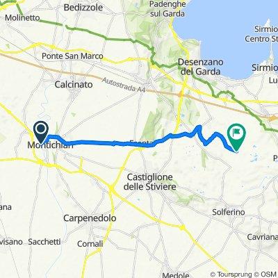 Da Via Enrico Fermi 11, Montichiari a Traversa di Via Vaccarolo 15, Vaccarolo