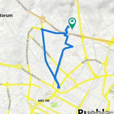 De Privada Ignacio Comonfort 12-1, Puebla a Cerrada B Comonfort 23, Puebla