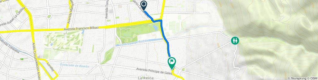 Ruta desde Iv Centenario 1756, Las Condes