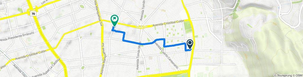De Avenida Alejandro Fleming 8910–8912, Las Condes a Hernando de Magallanes 1072, Las Condes