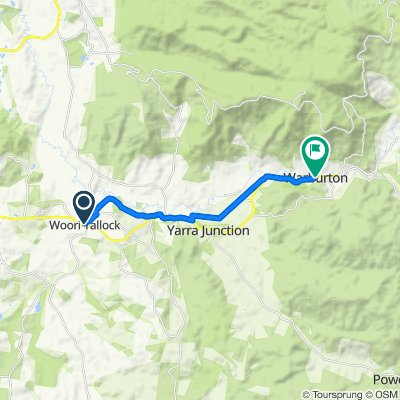1385A Healesville-Koo Wee Rup Road, Woori Yallock to 3394 Warburton Highway, Warburton
