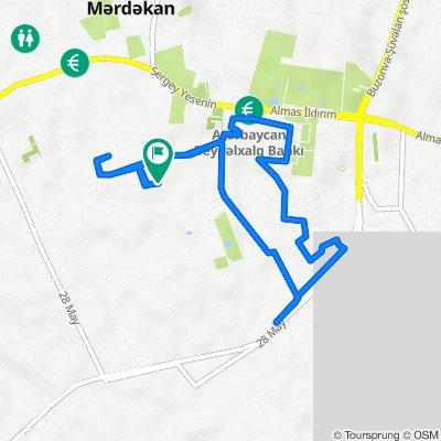 Unnamed Road, Mərdəkan to Unnamed Road, Mərdəkan