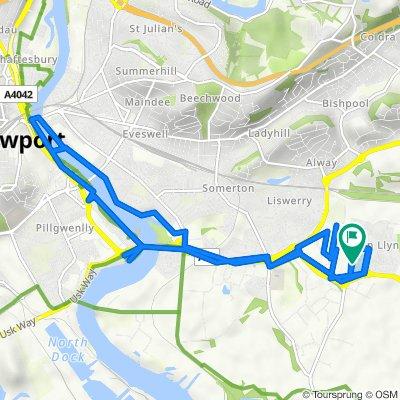 35 Spencer Way, Newport to 12 Lydney Walk, Newport