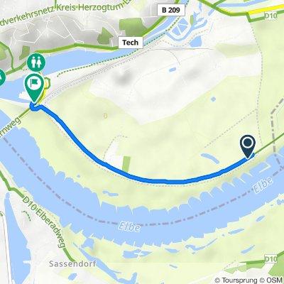 Route nach Hafenstraße, Lauenburg/Elbe