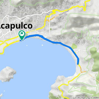 De Avenida Costera Miguel Alemán, Acapulco a Avenida Costera Miguel Alemán, Acapulco