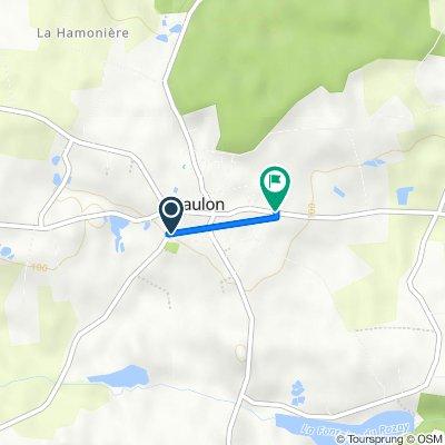 De 7 Rue de la Motte, Baulon à 1 Allee des Lauriers, Baulon