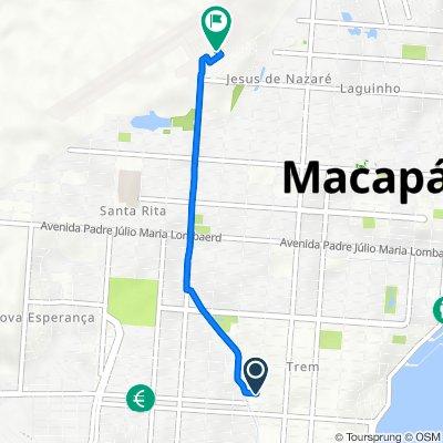 De Avenida Felipe Camarão, 1084, Macapá a Rua Interna, 358, Macapá