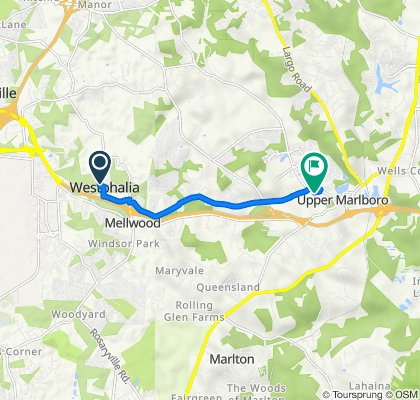 5532 Glover Park Dr, Upper Marlboro to 14119 Spring Branch Dr, Upper Marlboro
