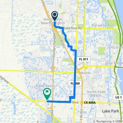 14469 Heights Blvd, Jupiter to 1 Ryder Cup Blvd, Palm Beach Gardens