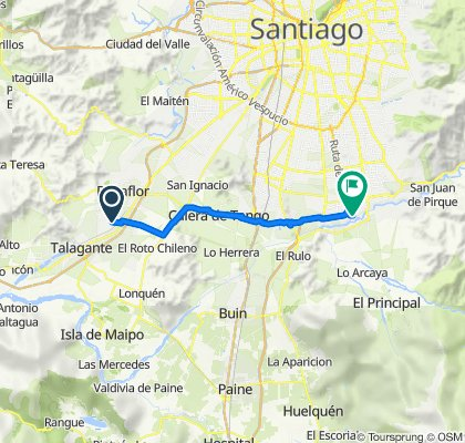 De Camino Santa Ana Ruta G-398, Talagante a Nocedal 1507, Puente Alto