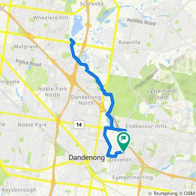 Route to Waratah Street 44, Doveton