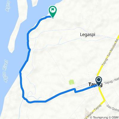 Route from Bonifacio Street, Tayug