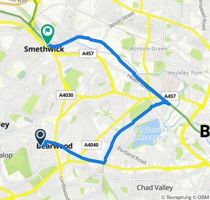 24 Weston Road, Smethwick to Brasshouse Lane, Smethwick