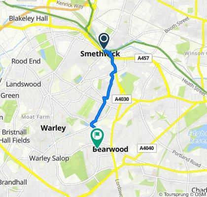 Brasshouse Lane, Smethwick to 24 Weston Road, Smethwick