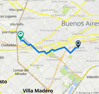 De Faraday 1479, Buenos Aires a Barragán 932, Buenos Aires