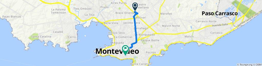 De Tte. Coronel Euclides Salari 3487, Montevideo a Ansina 1036, Montevideo