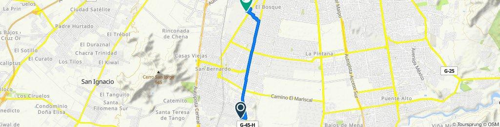 De Cachapoal 1031, San Bernardo a Gran Avenida Jose Miguel Carrera 11478, El Bosque