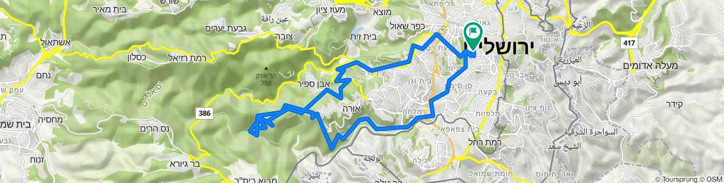 -רחביהרחביה-שביל הצוקים-שביל המעינות-שביל רכסים-יד קנדי-עין איתמר-עין לבן-גן חיות-פארק ירושלים--