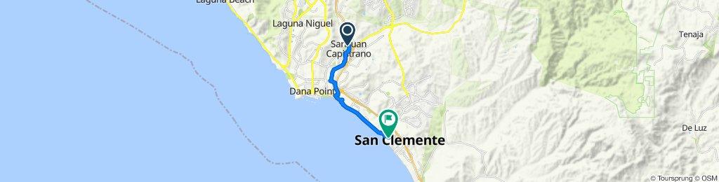 31611 El Camino Real, San Juan Capistrano to 1101 Calle Puente, San Clemente