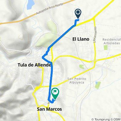 De Calle Emiliano Zapata 5–13, Tula de Allende a Calle del Canal, Tula de Allende