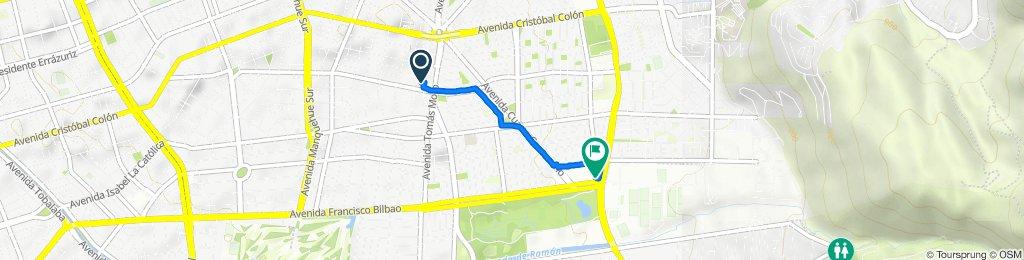 De Río de la Plata 1235, Las Condes a Avenida Francisco Bilbao 8942, Las Condes