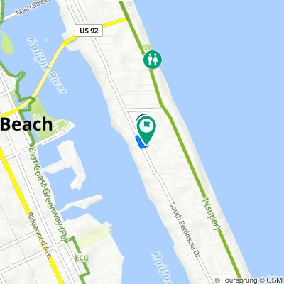 318 Temko Terr, Daytona Beach to 300–398 Wisteria Rd, Daytona Beach