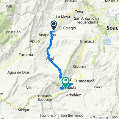 De La Mesa-Anapoima a Boqueron-Fusagasuga, La Serena